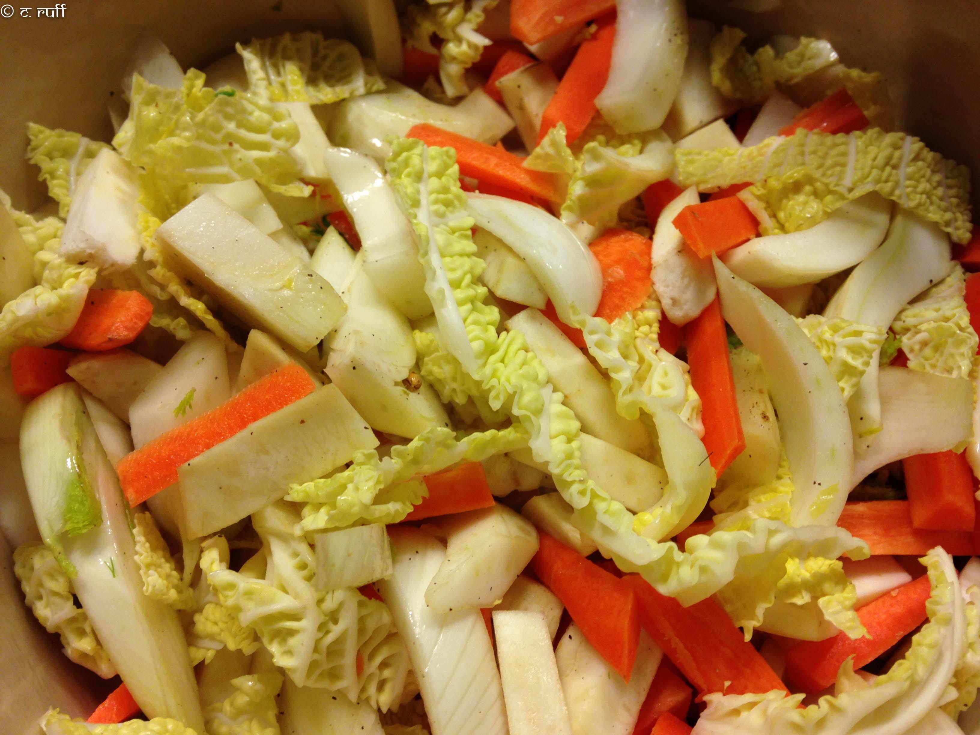 Gemüse für Süppchen