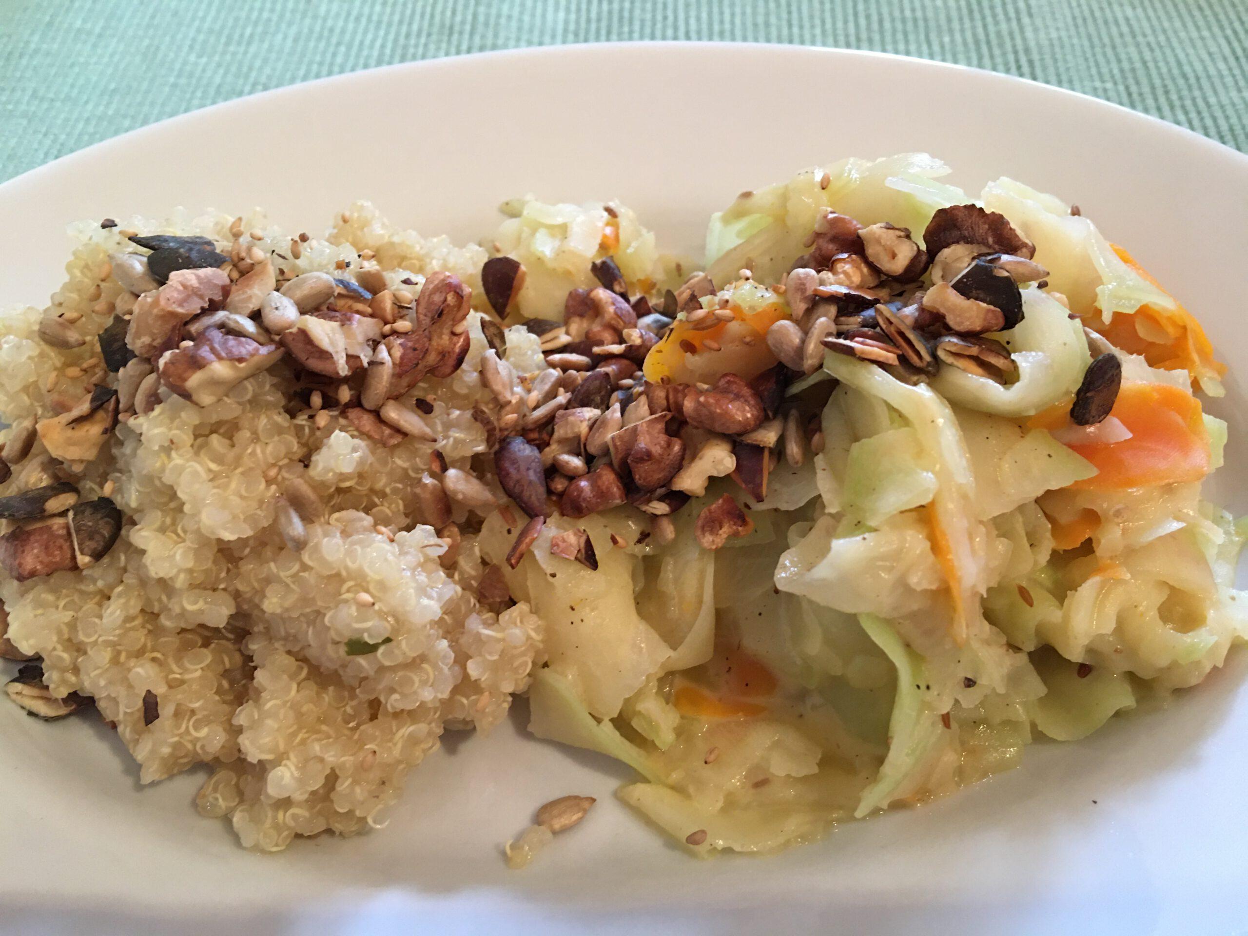 Kohlrabigemüse mit Quinoa